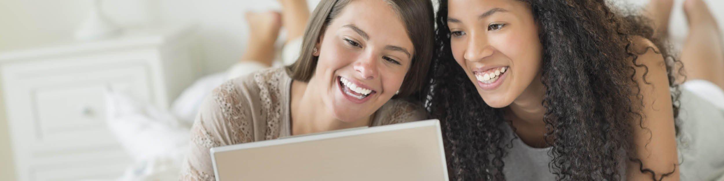 Two Girls Laptop